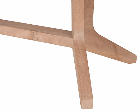 """90"""" x 40"""" Austin Dining Table in Unfinished Walnut, Base Detail"""