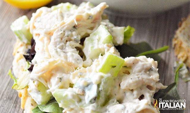 lemon chicken salad on bread