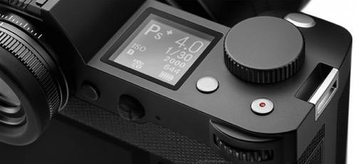 Leica SL Typ 601 mirrorless full frame camera top LCD screen 550x253