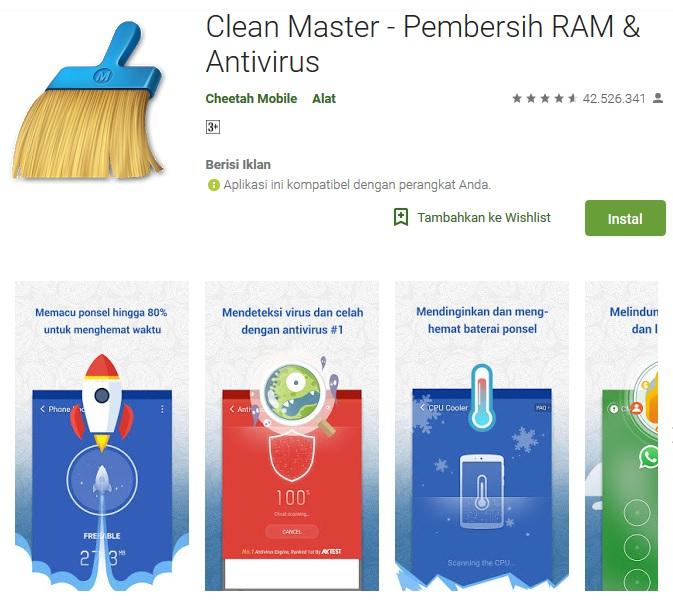 Cara Menggunakan Clean Master di Android