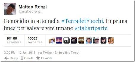 Tweet fake di Matteo Renzi