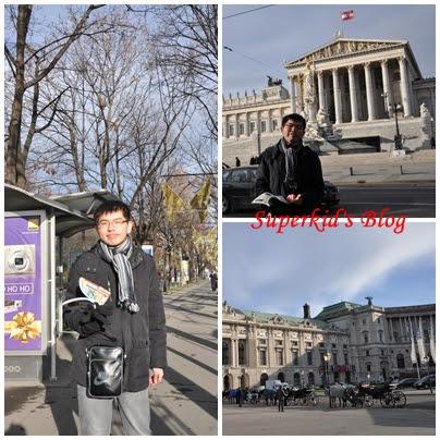 我在奧地利國會大廈前