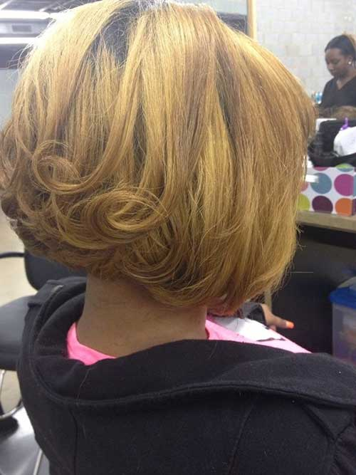 Short Inverted Bob Hair Back View 2016