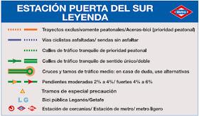 Calles recomendadas para llegar en bici a la estación de Metro de Puerta del Sur