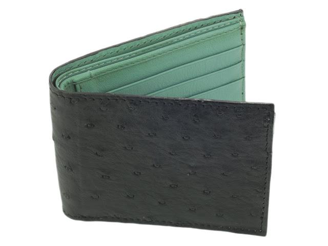 b04 - Ostrich Leather Bi-Fold Wallet and Samsung Galaxy Case