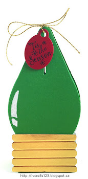 Linda Vich Creates: Tag Exchange and December Stamp Class. Christmas Light Treat Holder.