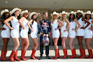 Sebastian Vettel with USA F1 Grid girls