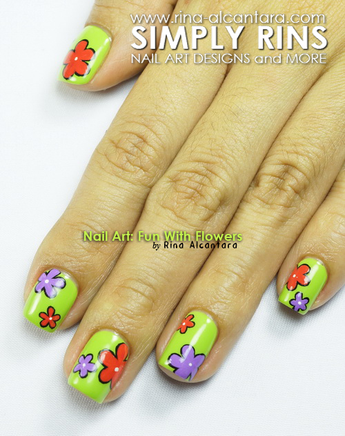 Nail Art Fun With Flowers Simply Rins