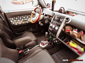 Scion xB interior with Domo Kun