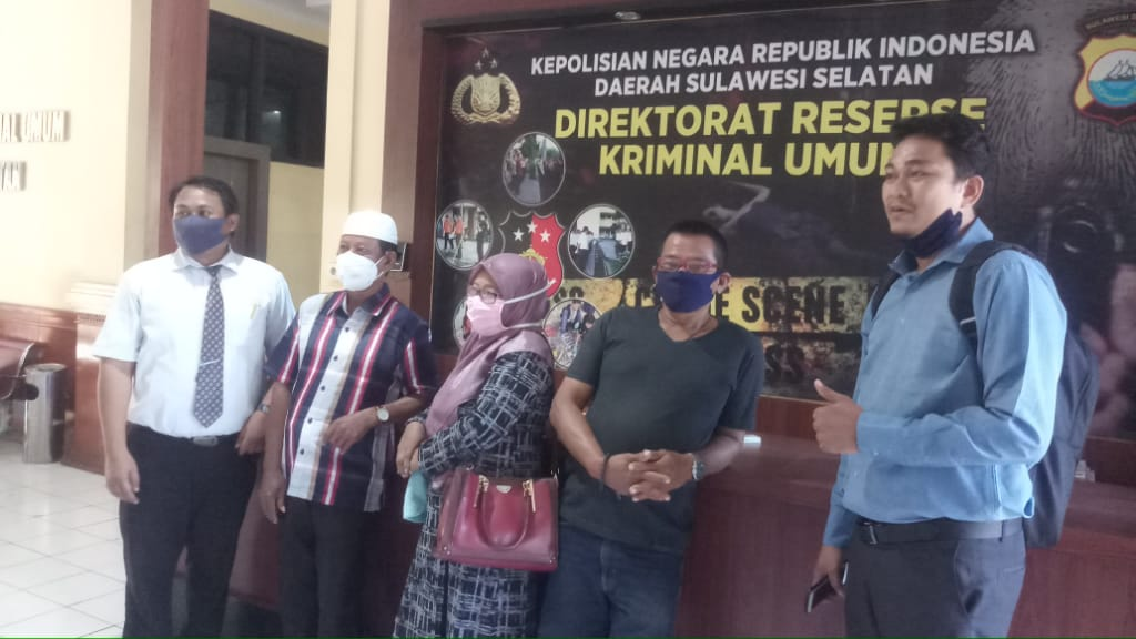 LKBH Makassar Dampingi Warga Laporkan Purn.TNI AD Penyerobot Tanah di Polda Sulsel