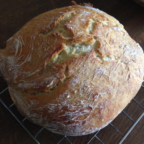 Selbstgebackenes No-Knead-Bread