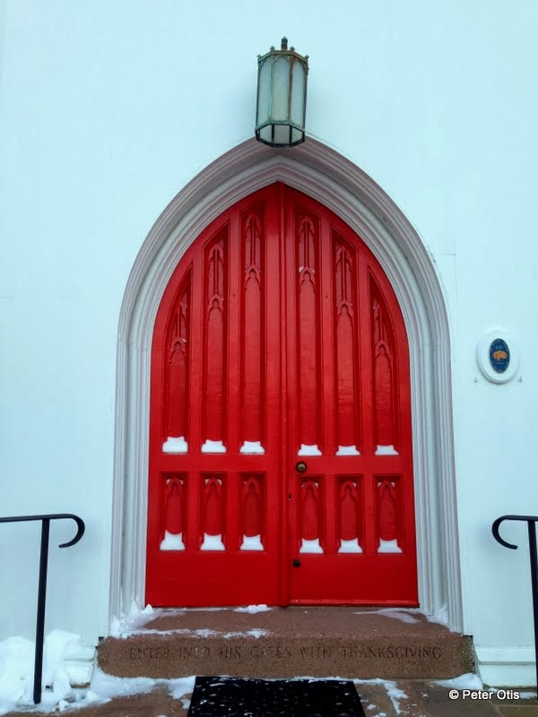 The Red Doors Of Trinity Episcopal Church On The Green Branford Ct
