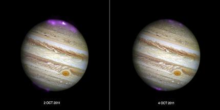 auroras em Júpiter