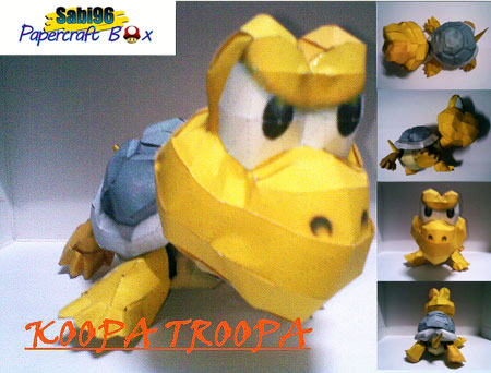 Super Mario Galaxy Koopa Troopa Papercraft
