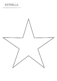 Dibujo de la estrella para imprimir, colorear y pintar