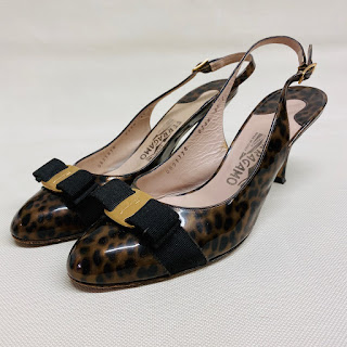 Salvatore Ferragamo Patent Leather Slingbacks