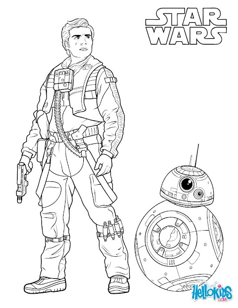 Chewbacca Poe Dameron And Bb Coloring Page