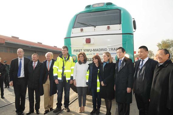 El primer tren de mercancías directo entre España y China llega a Abroñigal