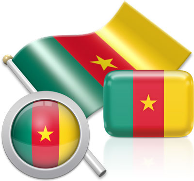 Cameroonian flag icons pictures collection
