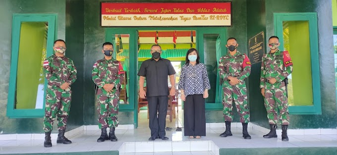 Kedubes RI Untuk Timur Leste Kunjungi Mako Satgas, Dansatgas Sambut Dengan
