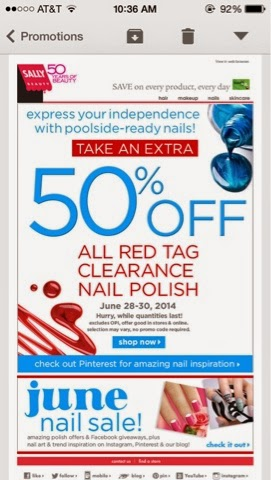 Sally Beauty Supply 50% off on clearance this weekend only