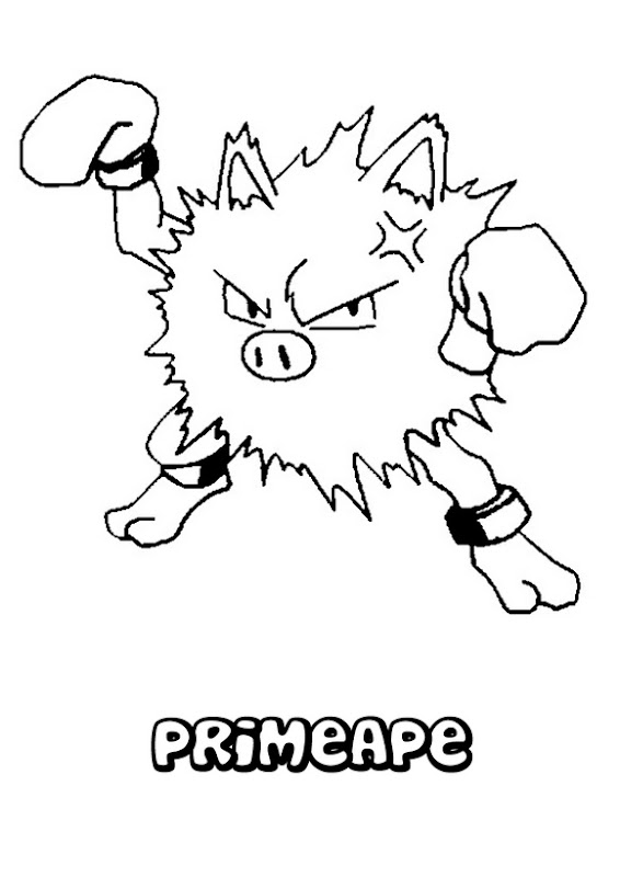 Primeape coloring pages