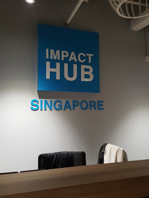 The Impact Hub co-working space illustrates the rise of shared-space workplaces.
