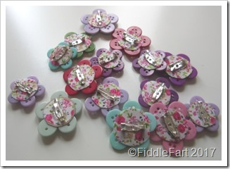 Button Brooch backs