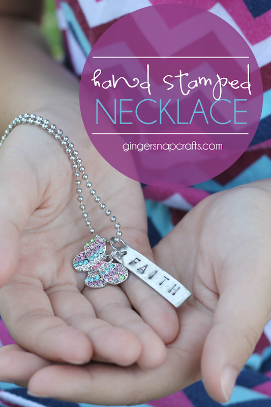 Hand Stamped Necklace at GingerSnapCrafts.com