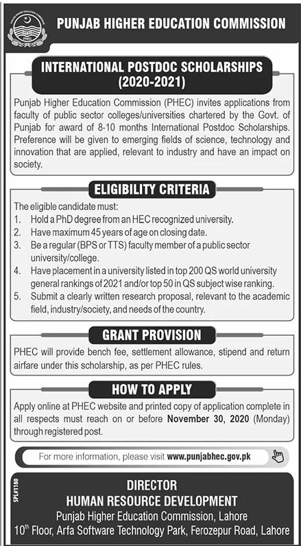 Punjab Higher Education Commission Jobs September 2020 (100 Posts)