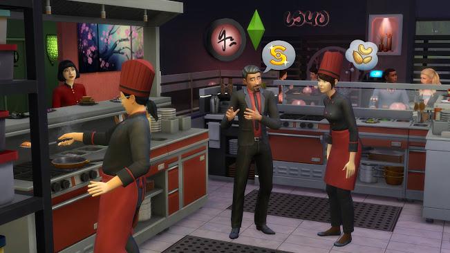 De Sims 4 Uit Eten restaurant sushibar