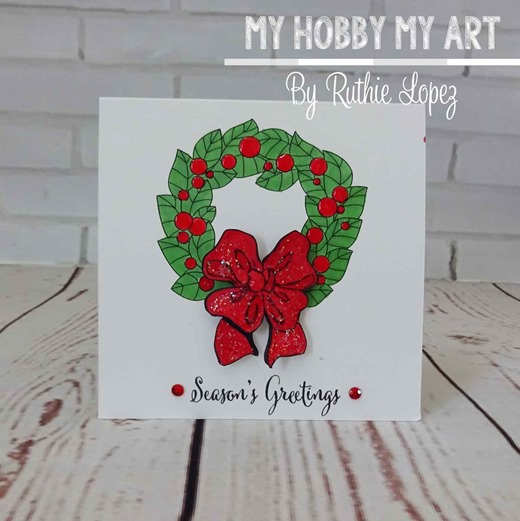 Christmas-wreath-christmas-card--crafty-sentiments-designs-Ruth-Lopez-My-Hobby-My-Art-2