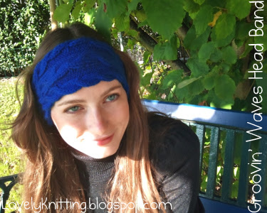 Knitted Groovin' Waves Head Band