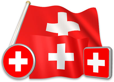 Swiss flag animated gif collection