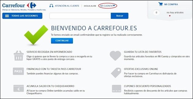Abrir mi cuenta Carrefour - 452