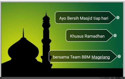 Jadwal Ramadhan Bersih satu Masjid pekan kedua