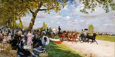 Giuseppe de Nittis - Return from the Races