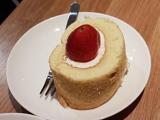 Cream roll cake from Cafe Muji at Raffles City