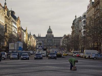 La Plaza de Wenceslao de Praga