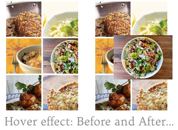 pinterest gadget hover effect before and after