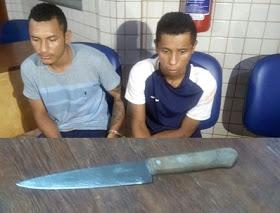 Elementos são detidos em posse de arma branca em Itaituba, PA.