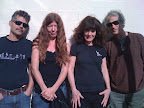 Bobby, Jeannie Burns, Marie Burns, & Jody Lampro in Santa Cruz, CA. Lost World Tour.