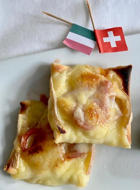 Schweiz trifft Italien- Mini Pizzen vom Raclette