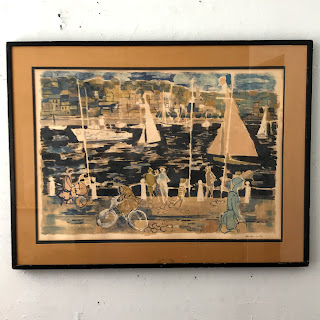 Signed Mid-Century Modern Lithograph