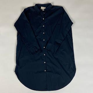 Acne Studios Navy Shirt Dress