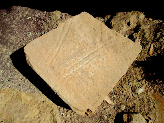 Fallen petroglyph