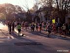Half marathoners on Park Drive.