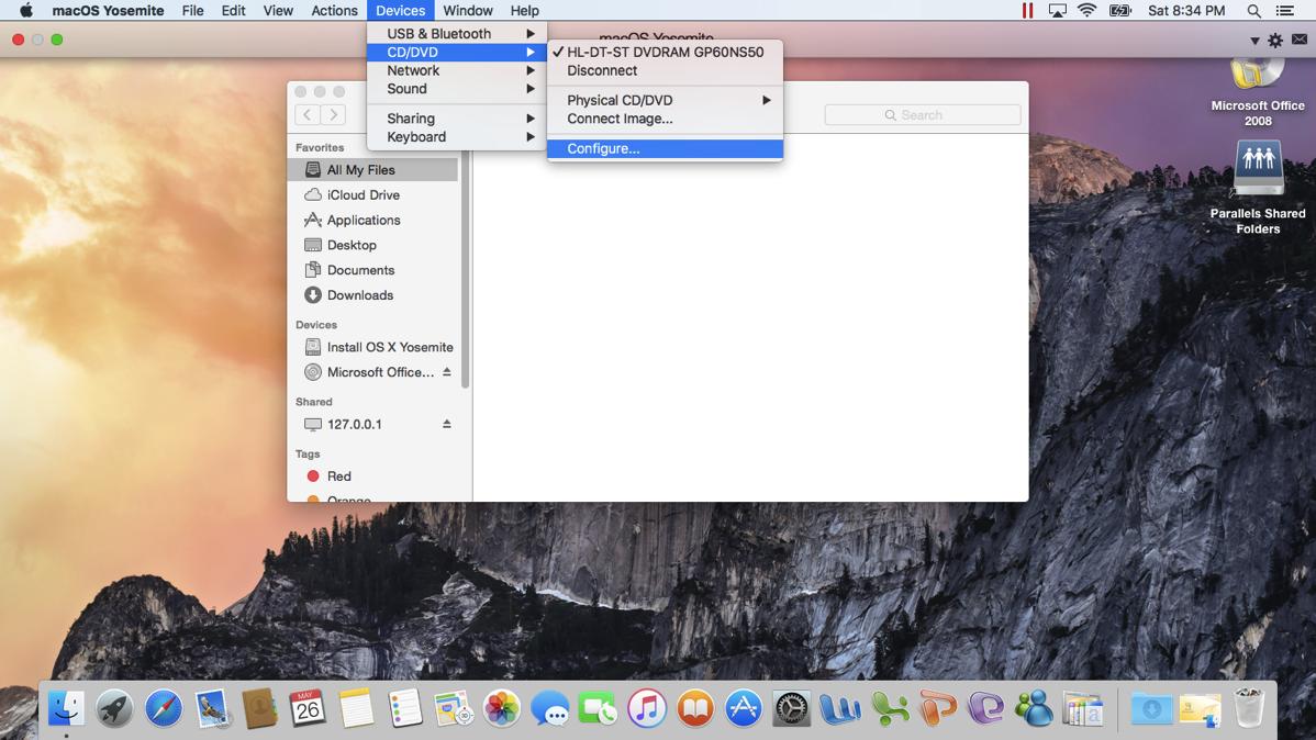 14 Go to the Configure menu option