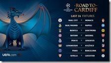 Ottavi di finale di Champions League 2016/2017