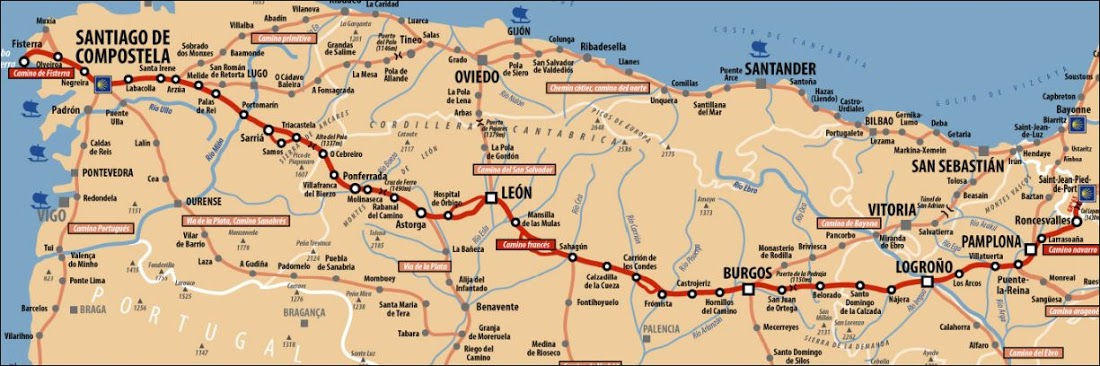 Camino Frances Map R&S Adventure: Camino Frances Map Camino Frances Map